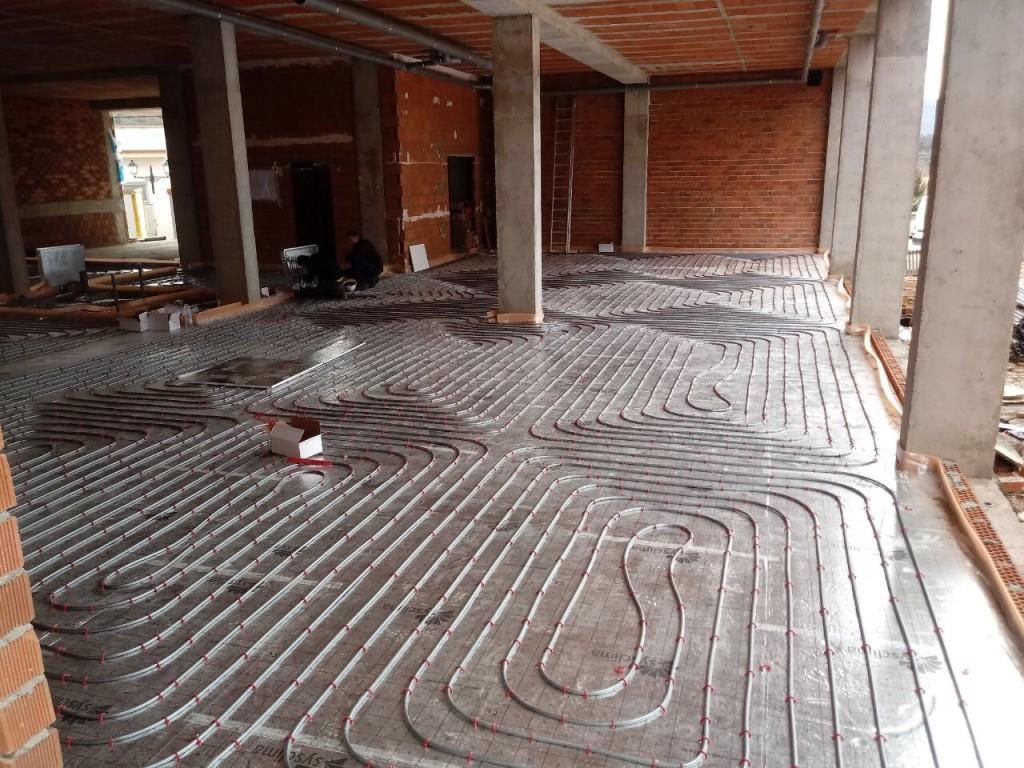 instalación de geotermia para suelo radiante